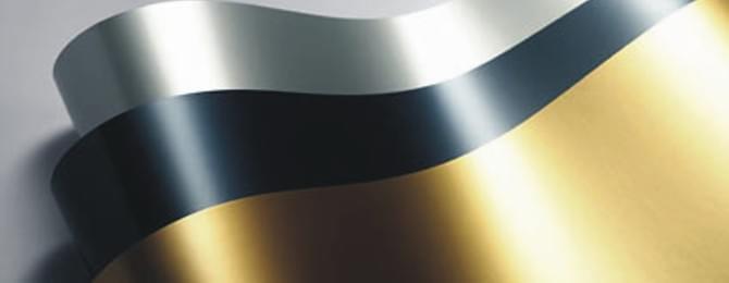 Plakfolie metallic